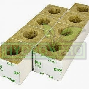 Large Hole Hugo Block Rockwool Cube