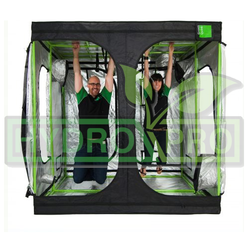 Green Qube 200 2m x 2m x 2.2m and 2m - with logo